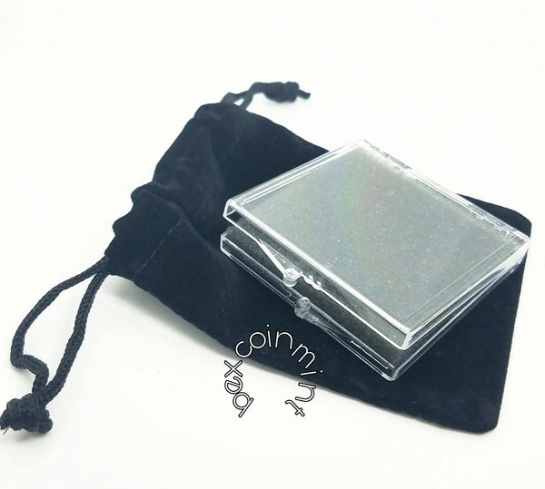 Box with Black Drawstring Pouch - B E X Coin Mint & SOBRIETY INSPIRED by BEX