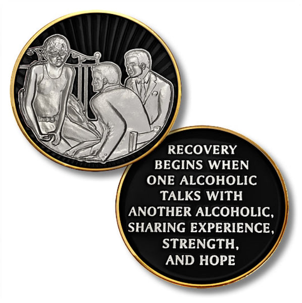 "Sharing Sobriety Experience & Strength, Three Men, 1 ½"" - B E X Coin Mint & SOBRIETY INSPIRED by BEX"