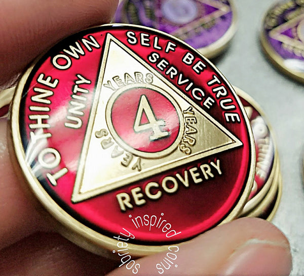 Coins For Aa Sobriety Jewel Colors Sobriety Inspired By Bex