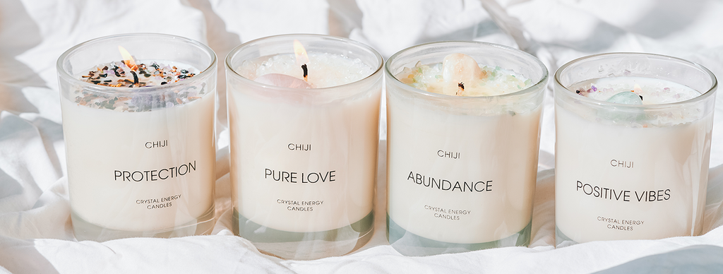 crystal energy candles