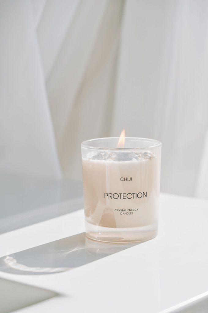 Protection Crystal Energy Candle® - Made With Amethyst