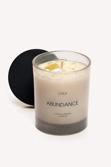 Abundance Crystal Energy Candle™ - Made With Citrine