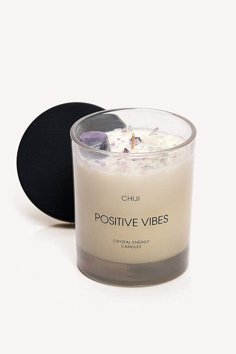 Positive Vibes Crystal Energy Candles™ - Made With Fluorite