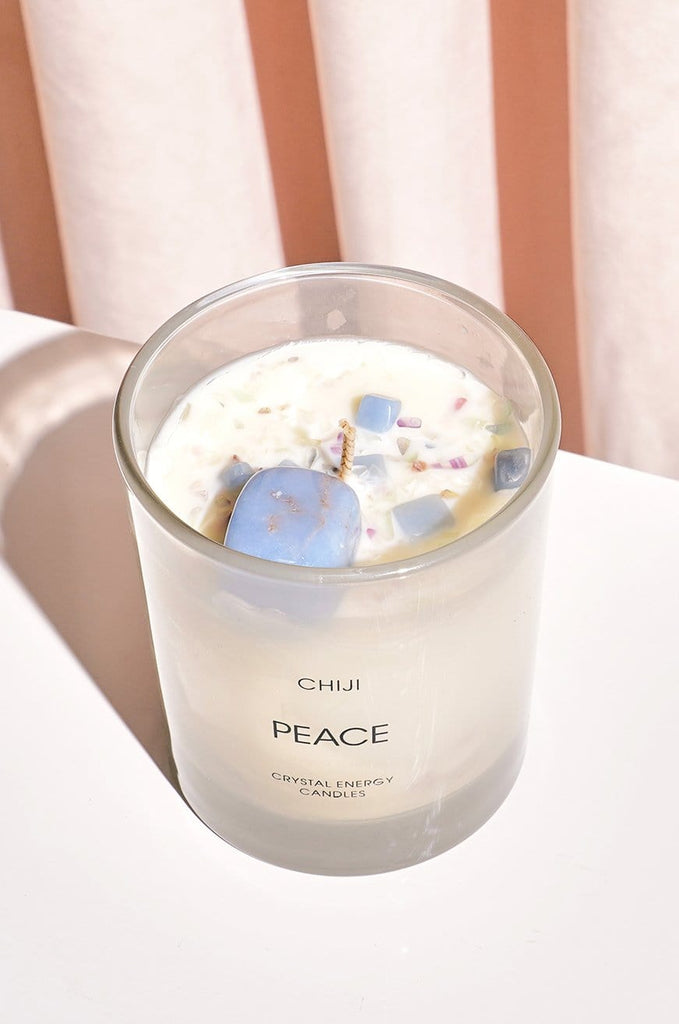 Peace Crystal Energy Candle® - Made With Angelite