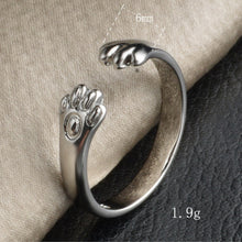 Kittenup Cute  Cat Paw Ring
