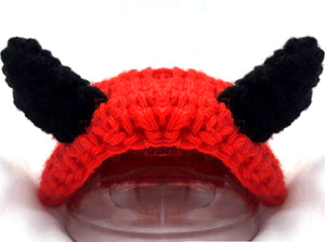 Devil crochet cat hat