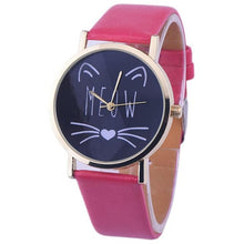 Cat Pattern Leather  Wrist Watches