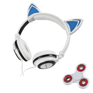 Tri-Spinner  Glowing cat ear headphones H&D