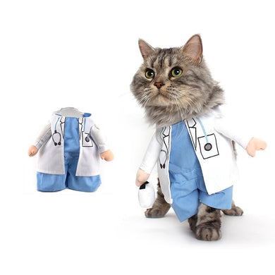 Funny Cat Costume Doctor Cat-clothe