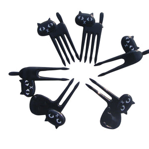 6 PCs Little Black Cat fork set H&D