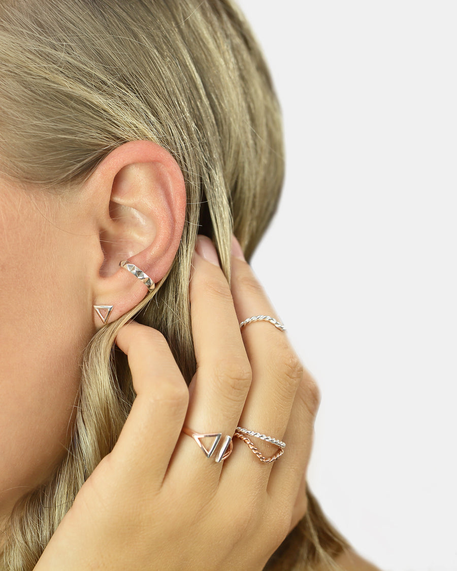 CA Jewellery Triangle Stud Earrings