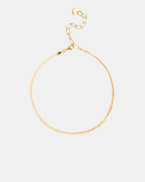 CA Jewellery Gold Herringbone Choker