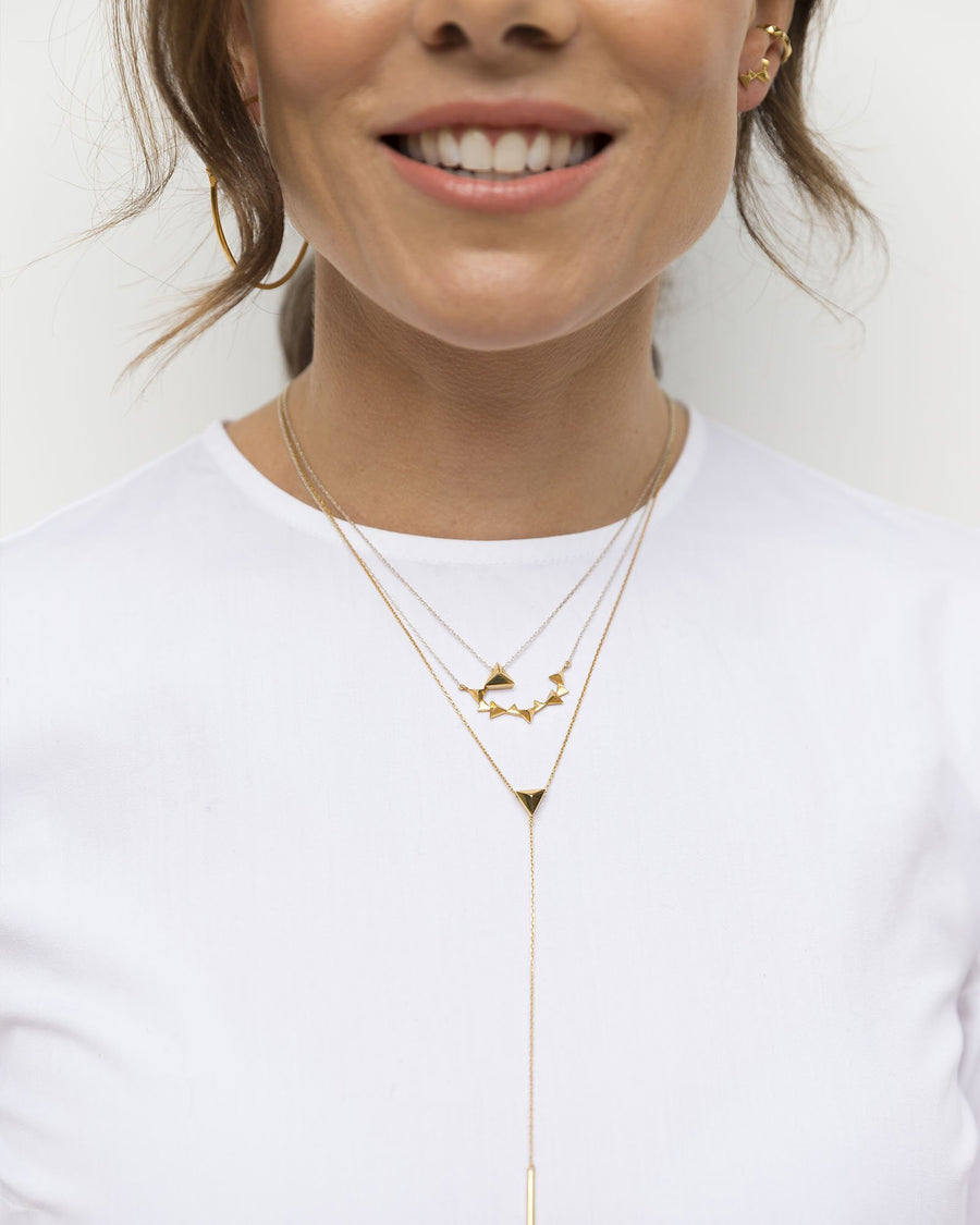 CA Jewellery Pyramid Lariat Necklace