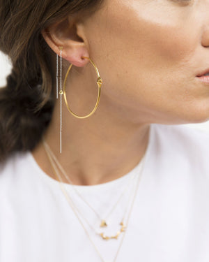 CA Jewellery Pyramid Hoop Earrings