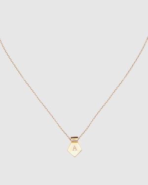 Letter A Pendant Necklace - Gold