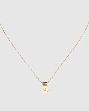 Letter G Pendant Necklace - Gold