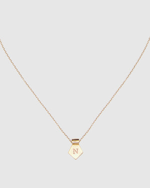 Letter N Pendant Necklace - Gold