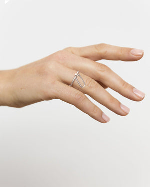 CA Jewellery Link Charm Ring