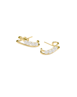 Pearl Stud Earrings - Gold