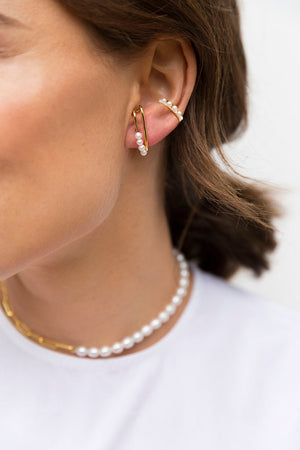Pearl Ear Cuff - Gold