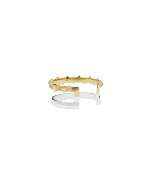 CA Jewellery Pyramid Double Band Ring