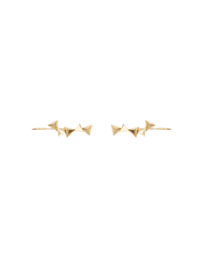 CA Jewellery Pyramid Ear Climbers - Gold