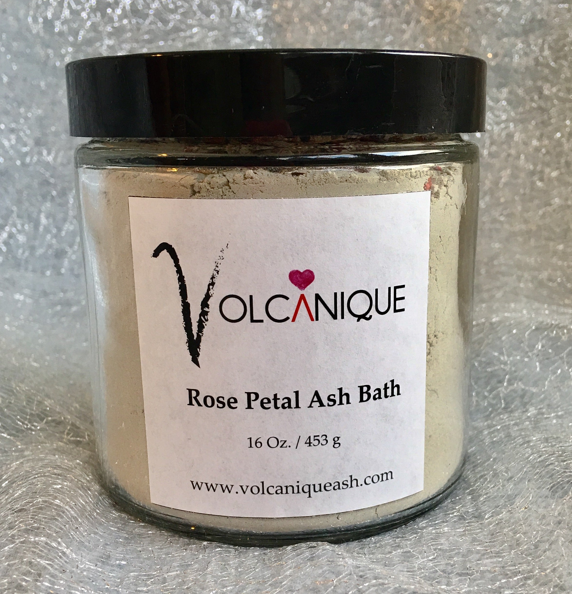 Rose Petal Ash Bath - 16 oz.