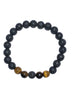 Protection Bracelet - Tiger Eye and Lava