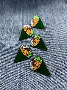 """Temaki Hand Roll Sushi"" Lapel Pin 