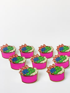 """Acai Bowl"" Lapel Pin 