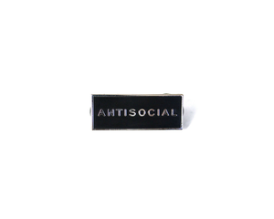 """Antisocial"" Lapel Pin 