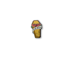 """Dead Inside Coffin"" Lapel Pin 