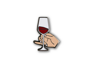 """Fine Wine"" Lapel Pin 