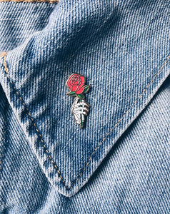 """Dead Rose"" Lapel Pin 