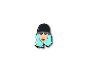 """King Kylie"" Lapel Pin 