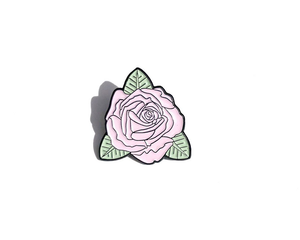 """Pastel Rose"" Lapel Pin 