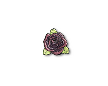 """Plum Rose"" Lapel Pin 