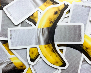 """Taped Banana"" Vinyl Sticker 
