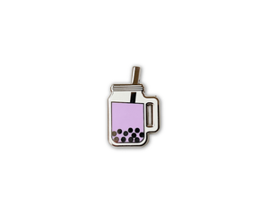 """Taro Boba"" Lapel Pin 
