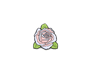 """White Rose"" Lapel Pin 