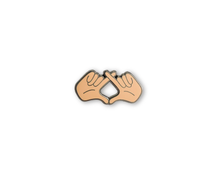 """XO Hands"" Lapel Pin 