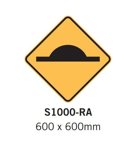 Barrier Group Speed Hump Sign Specification