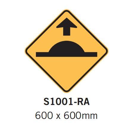 Barrier Group Speed Hump Sign with Arrow Specification