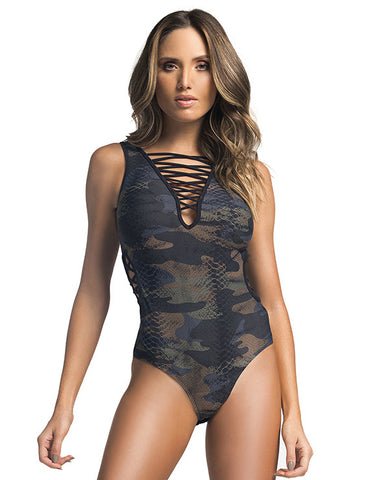 Caged Front Top - Padded