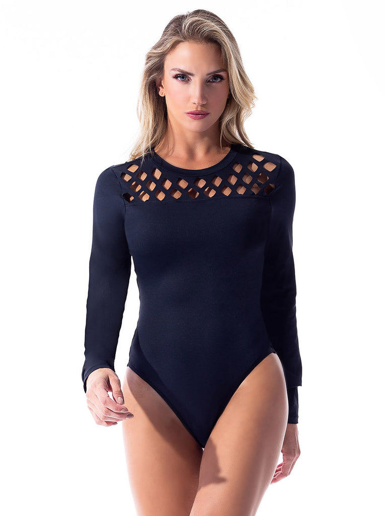 Laser Cut Out L/S Body - Activewear Brazil