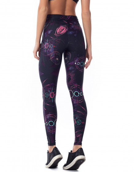 Galaxy F/L Tights with Gathered Waist