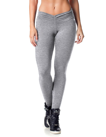 High Waist Seamless F/L Tights - Grey