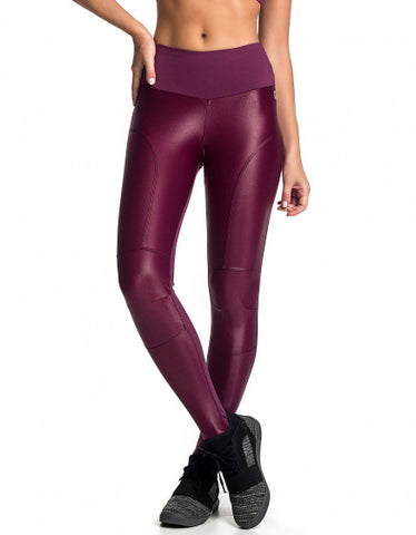 Heart Shape Gloss Cirre F/L Tights - Burgundy