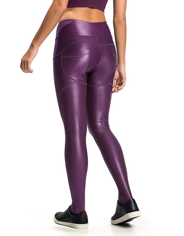 Supplex F/L Tights with Gathered Waist