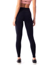 High Waist Supplex F/L Tights - Black - Activewear Brazil
